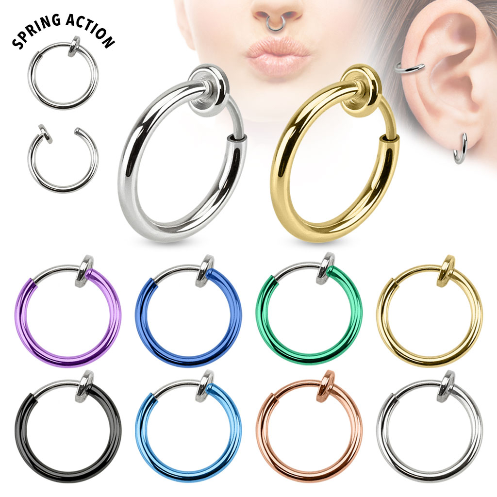 fake piercing ring