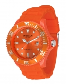 Madison New York Candy Time XL Silikon Armband Uhr Orange