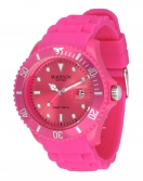 Madison New York Candy Time XL Silikon Armband Uhr Pink