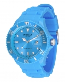 Madison New York Candy Time XL Silikon Armband Uhr Blau