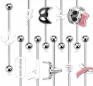 Industrial Motiv Inlay Ohr Helix Piercing