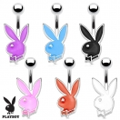 Bauchnabelpiercing Playboy ® Bunny Silber Hase Bunt Emailliert