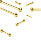 Zungenpiercing Gold Hantel