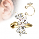 Ohr Helix Cartilage Gold Ohrklemme Blume