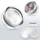 Acryl Foto Tunnel Plug Transparent