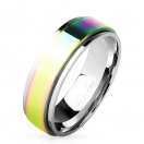 Regenbogen Spinner 8 mm Band Ring